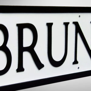 Bruntsfield Street Sign Detail