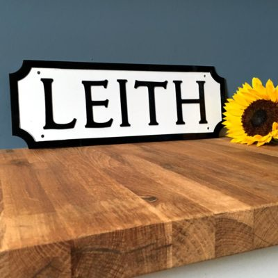 Sunshine on Leith Street Sign