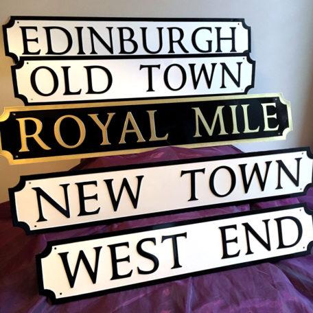 EH1 - EH3 Edinburgh Street Signs