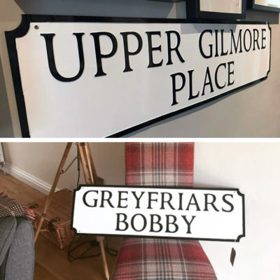 Custom-Made Edinburgh Street Signs