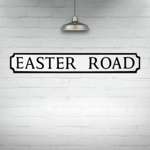 Easter Road Street Sign