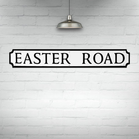 Easter Road Street Sign