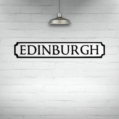Edinburgh Street Sign Wall Art