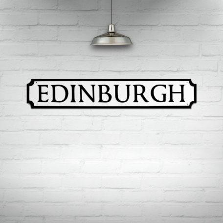 Edinburgh Street Sign Wall Art