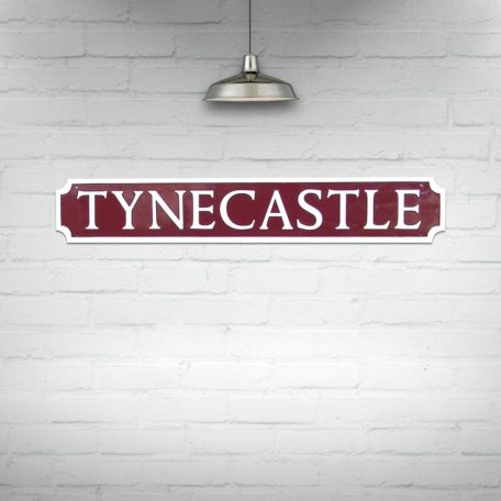 Tynecastle Street Sign Maroon and White
